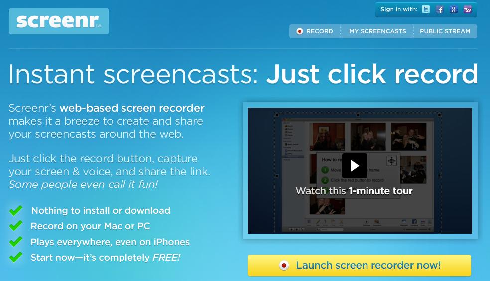Screenr.com: voor een virtuele rondleiding door je webwinkel