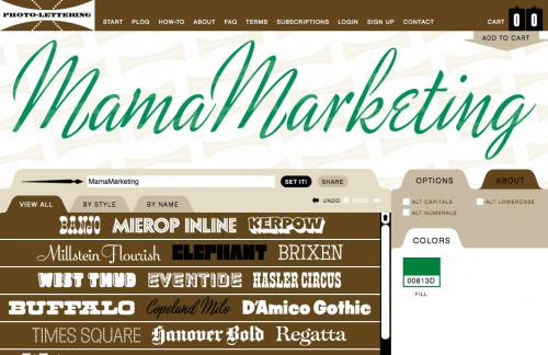 mamamarketing logo vintage plinc