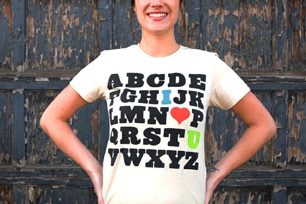 tshirt typografie plinc