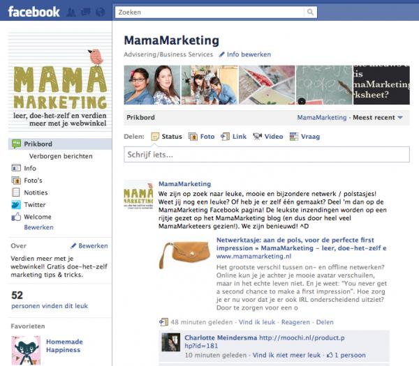 facebook pagina mamamarketing