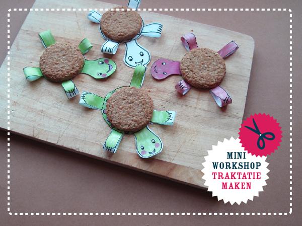 mini workshop traktatie maken schildpad homemade happiness