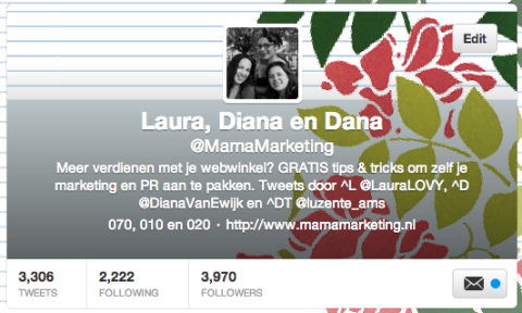 mamamarketing twitter profiel pagina