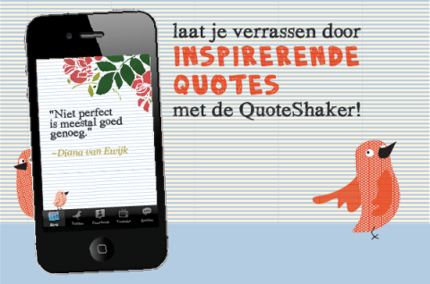 inspirerende quotes voor webwinkeliers, in de Quaote Coach van de MamaMarketing App