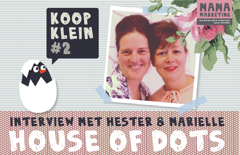 interview met webwinkeliers Marielle Pieterse en Hester de Nijs Bik van House of Dots