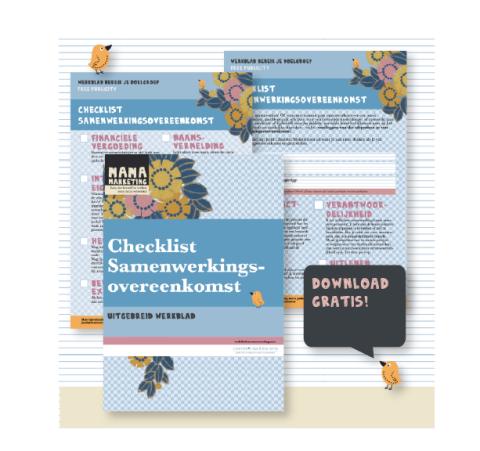 checklist samenwerkingsovereenkomst mamamarketing charlotteslaw