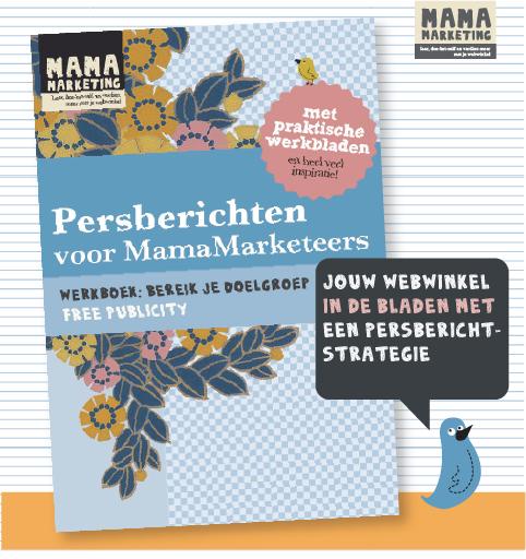 werkboek persberichten voor mamamarketeers en webwinkeliers