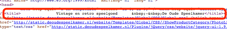 Title tag in HTML-code