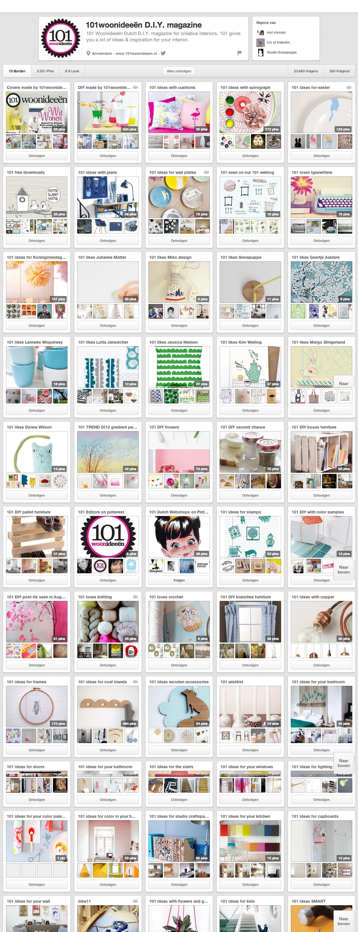 pinterest webwinkelmarketing 101woonideeën D.I.Y. magazine (101woonideeen) on Pinterest