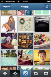Instagram explore scherm