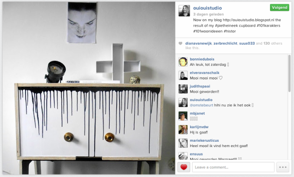 Instagramfoto van blogger  Margreet De Vries (ouiouistudio)