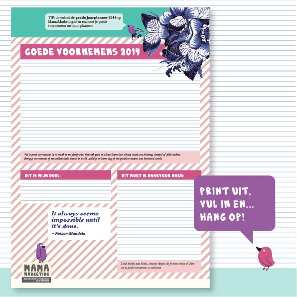 Gratis poster goede voornemens 2014 voor je webwinkel