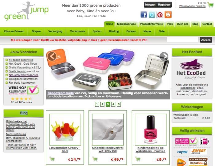 Webwinkel gespecialiseerd in biologische en ecologische producten voor baby en kinderen.