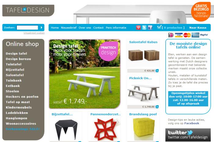 Tafel design.nl  de webwinkel voor je design tafel en design stoelen.