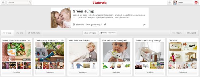 Green Jump op Pinterest