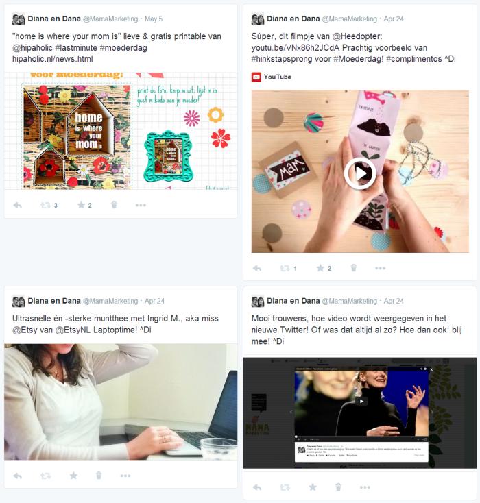 Selecteren op tweets die foto's en video's bevatten.
