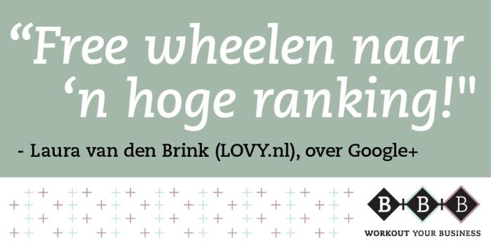Google+ interview Laura van den Brink, LOVY