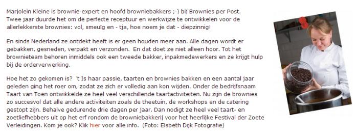 Marjolein presenteert zich, ook in haar webwinkel, duidelijk als expert.