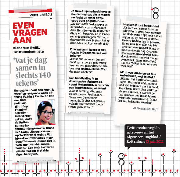 Twittercolumngids_interview_diana_van_ewijk_Algemeen_Dagblad_Rotterdam