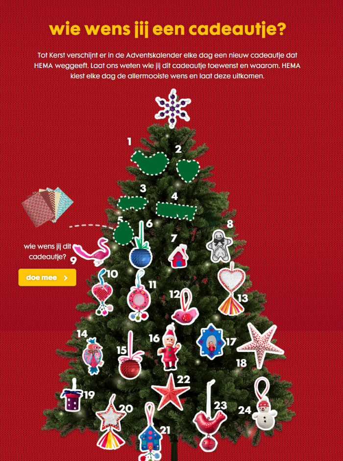 HEMA Adventskalender-website