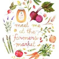 Meet me at the Farmers market door the Wheatfield op Etsy